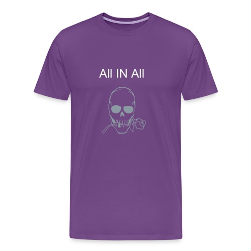 Men's Purple Skull - Men's Premium T-Shirt