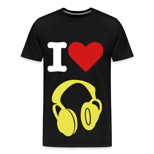 I Heart Music - Men's Premium T-Shirt