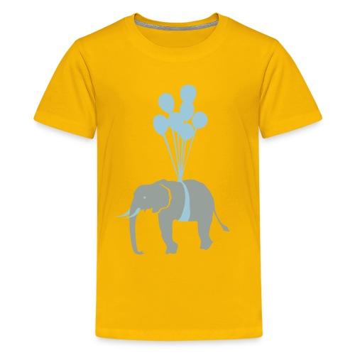 Flying elephant kids tee... - Kids' Premium T-Shirt