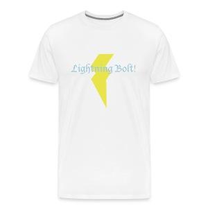 Lightning Bolt! - white - Men's Premium T-Shirt