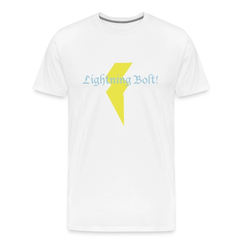 Lightning Bolt! - white - Men's Premium T-Shirt
