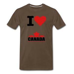 I Love Canada Tee - Men's Premium T-Shirt