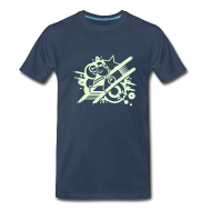 T-Shirts ~ Men's Premium T-Shirt ~ Charles GLOW on navy
