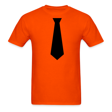 Orange black tie Men
