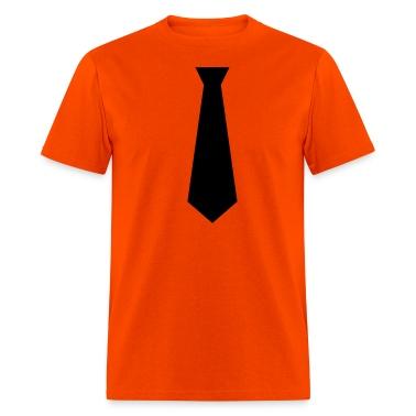 Orange black tie Men