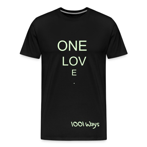 1001 Ways One Love Black T-Shir - Men's Premium T-Shirt