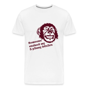 Someone stained my 5 p3nny b0x3rs - Men's Premium T-Shirt