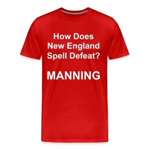 New England Spelling T-Shirt (Red) - Men's Premium T-Shirt