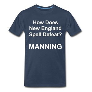 New England Spelling T-Shirt (Navy) - Men's Premium T-Shirt