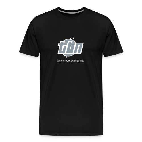 TBN Logo Silver Outline Tee - Men's Premium T-Shirt