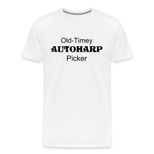Old-Timey Autoharp Picker White - Men's Premium T-Shirt