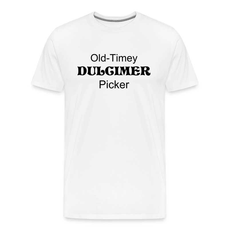 Old-Timey Dulcimer Picker White - Men's Premium T-Shirt