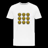 T-Shirts ~ Men's Premium T-Shirt ~ Yellow Skulls