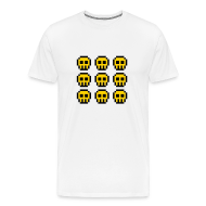 T-Shirts ~ Men's Premium T-Shirt ~ Yellow Skulls