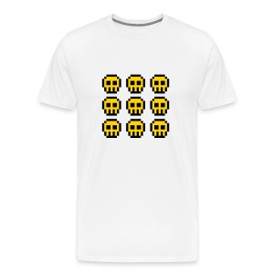 Yellow Skulls - Men's Premium T-Shirt