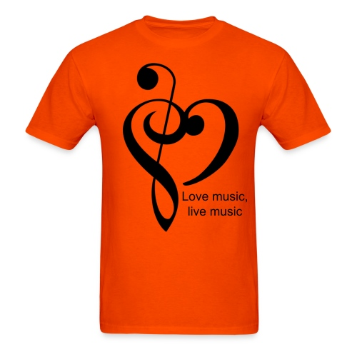 Love Music, live Music (orange) - Men's T-Shirt