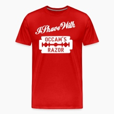 Red I shave with Occam's Razor Men