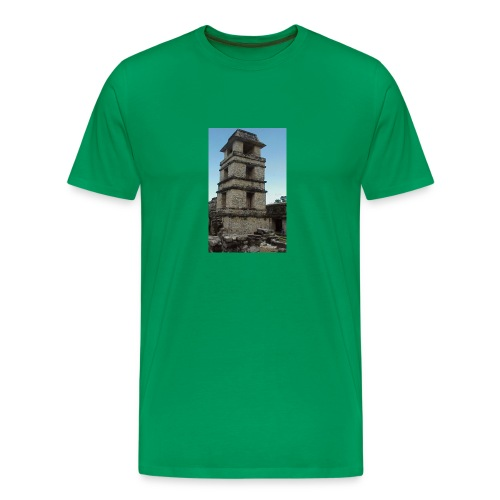 Palenque Maya tower - Men's Premium T-Shirt