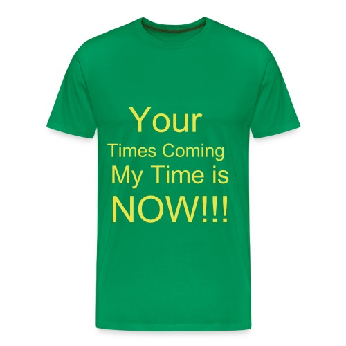 My Time Green T-shirt - Men's Premium T-Shirt
