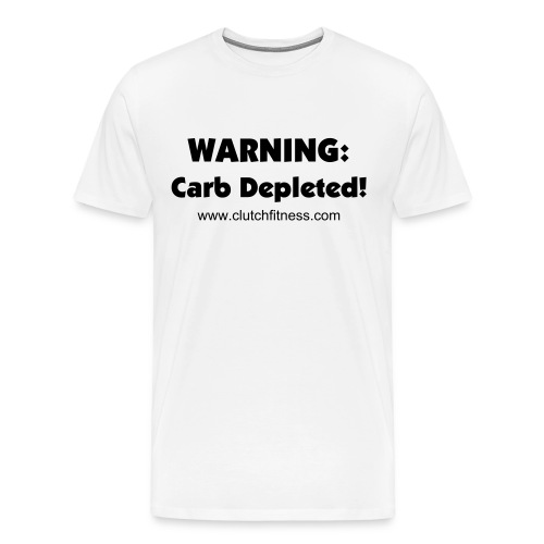 Carb Depleted - Men's White t-shirt - Men's Premium T-Shirt