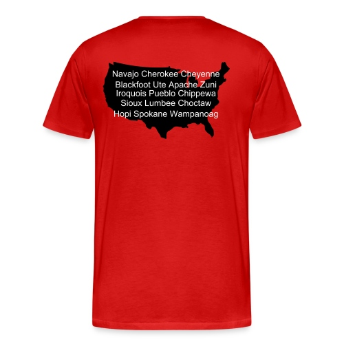 Native American red tee - Men's Premium T-Shirt