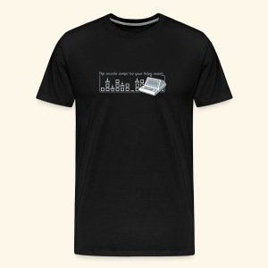 Handheld1, silverprint - Men's Premium T-Shirt