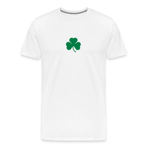 simple clover - green on white - Men's Premium T-Shirt