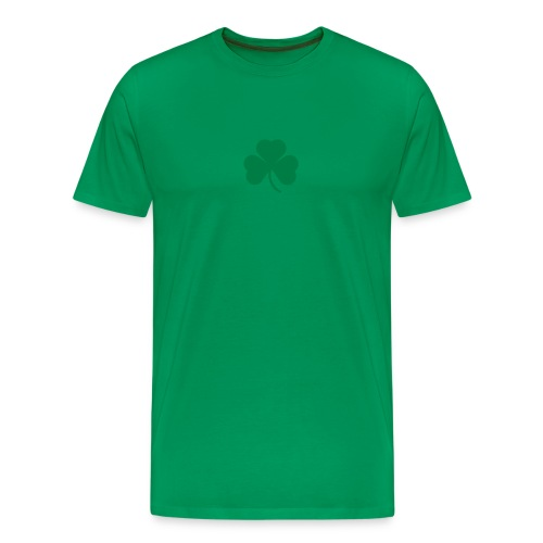 simple clover - green on green - Men's Premium T-Shirt