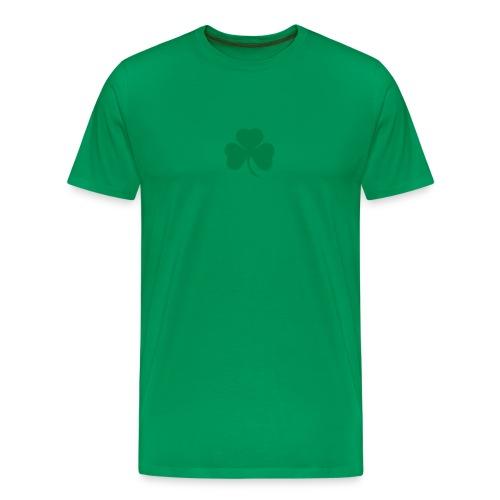 simple clover - green on green - Men's Premium T-Shirt