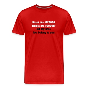 all my base are belong to you - Men's Premium T-Shirt