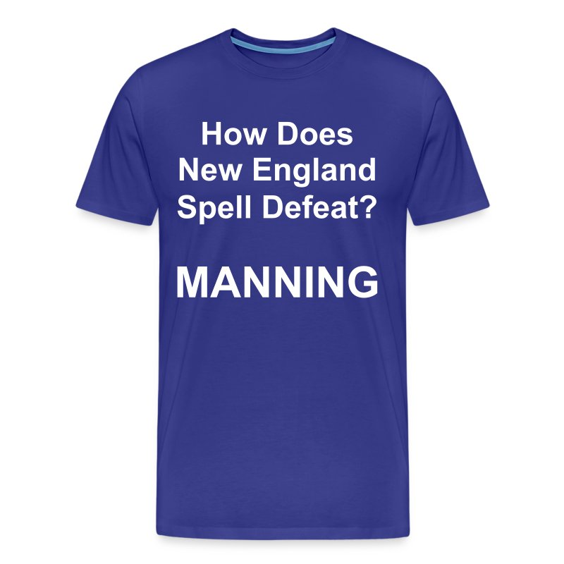 New England Spelling T-Shirt (Colt Blue) - Men's Premium T-Shirt