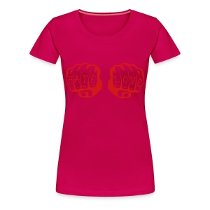 FIST OF LOVE AND HATE by VAN TRIBE  - Women's Premium T-Shirt