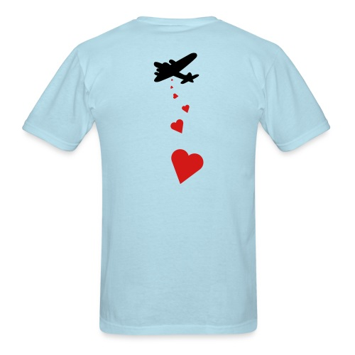 Drop love...not bombs - Men's T-Shirt