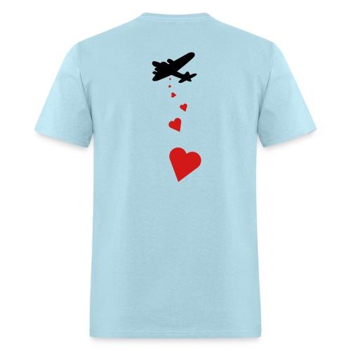 Drop love...not bombs - Men's T-Shirt