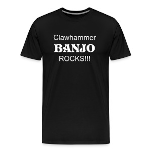 Clawhammer Banjo Rocks Black - Men's Premium T-Shirt