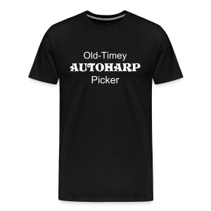 Old-Timey Autoharp Picker Black - Men's Premium T-Shirt
