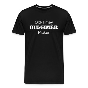 Old-Timey Dulcimer Picker Black - Men's Premium T-Shirt