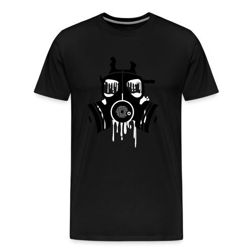 Gas Mask Out line - Men's Premium T-Shirt