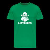 T-Shirts ~ Men's Premium T-Shirt ~ Leprecons- White on Green