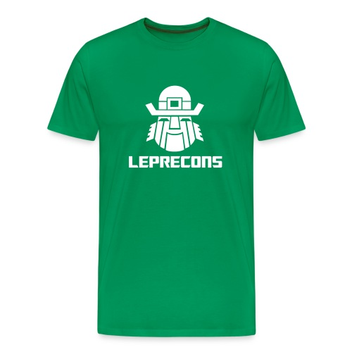 Leprecons- White on Green - Men's Premium T-Shirt