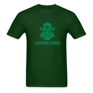 Leprecons- Green on Green- Raised Flock Print - Men's T-Shirt