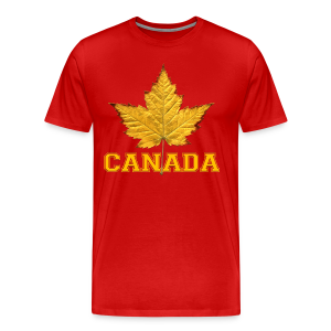 Canada T-shirt Men's Maple Leaf Canada Souvenir T-shirts - Men's Premium T-Shirt