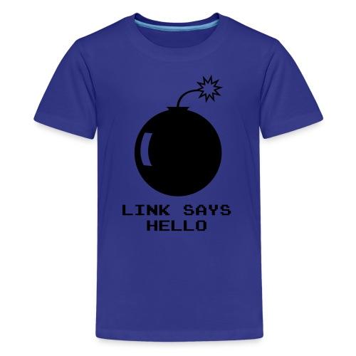 Link Says Hello - Kids' Premium T-Shirt