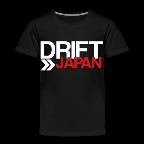 Drift Japan Overlap Logo - Toddler's Black T-Shirt - Toddler Premium T-Shirt