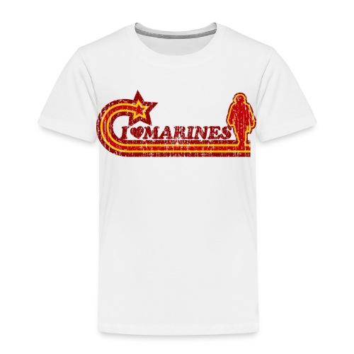 I Luv Marines Vintage Toddler Tee - Toddler Premium T-Shirt