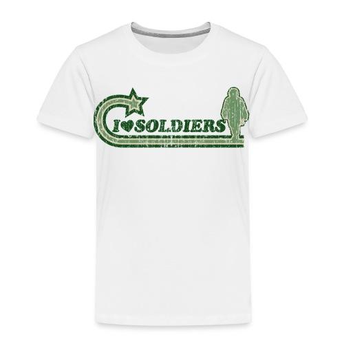 I Luv Soldiers Vintage Toddler Tee - Toddler Premium T-Shirt