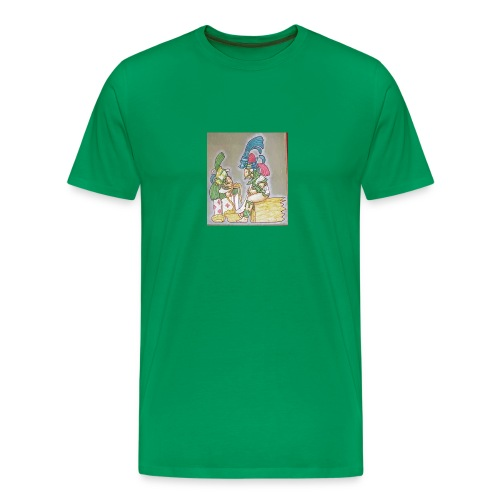 Ancient Maya characters - Men's Premium T-Shirt