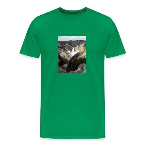 Lower Yellowstone Falls - Men's Premium T-Shirt
