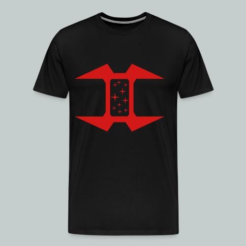 Black T-Shirt with logo, plain back - Men's Premium T-Shirt