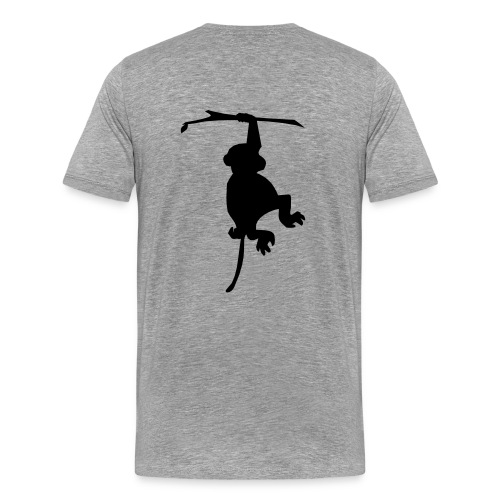 Monkey poop and evolution - Men's Premium T-Shirt